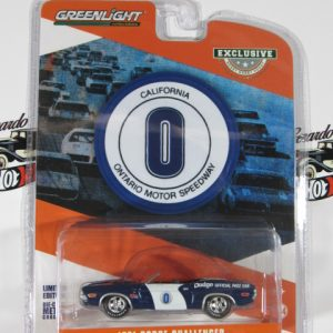 1971 DODGE CHALLENGER DODGE OFFICIAL PACE CAR CALIFORNIA GREENLIGHT 1:64ONTARIO MOTOR SPEEDWAY