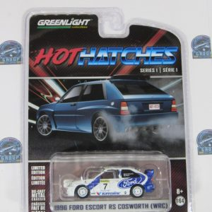 1996 FORD ESCORT RS COSWORTH WRC HOT HATCHES SERIE 1 GREENLIGHT 1:64