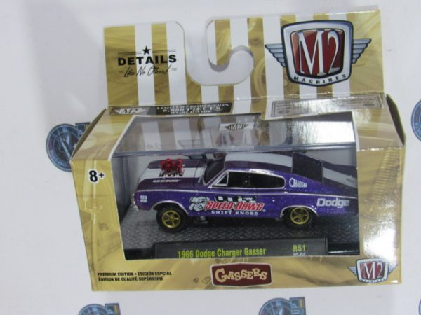 1966 DODGE CHARGER GASSER SPEED GASSERS DAWG MACHINES M2 1:64