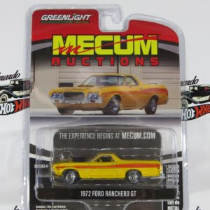 1972 FORD RANCHERO GT MECUM RUCTIONS GREENLIGTH 1:64