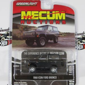 1968 ICON FORD BRONCO MECUM RUCTIONS GREENLIGTH 1:64