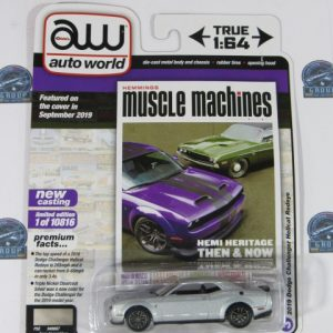 2019 DODGE CHALLENGER HELLCAR MUSCLE MACHINES AUTO WORLD 1:64