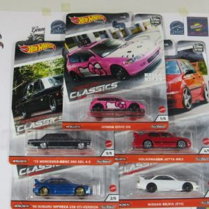 COMBO CLASSIC HOT WHEELS SET 5 CAR CULTURE, REAL RIDERS 1:64